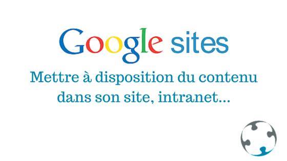 Mettre du contenu dans un Google sites